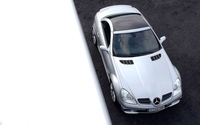 Top view of a silver Mercedes-Benz SLK-Class wallpaper 1920x1200 jpg