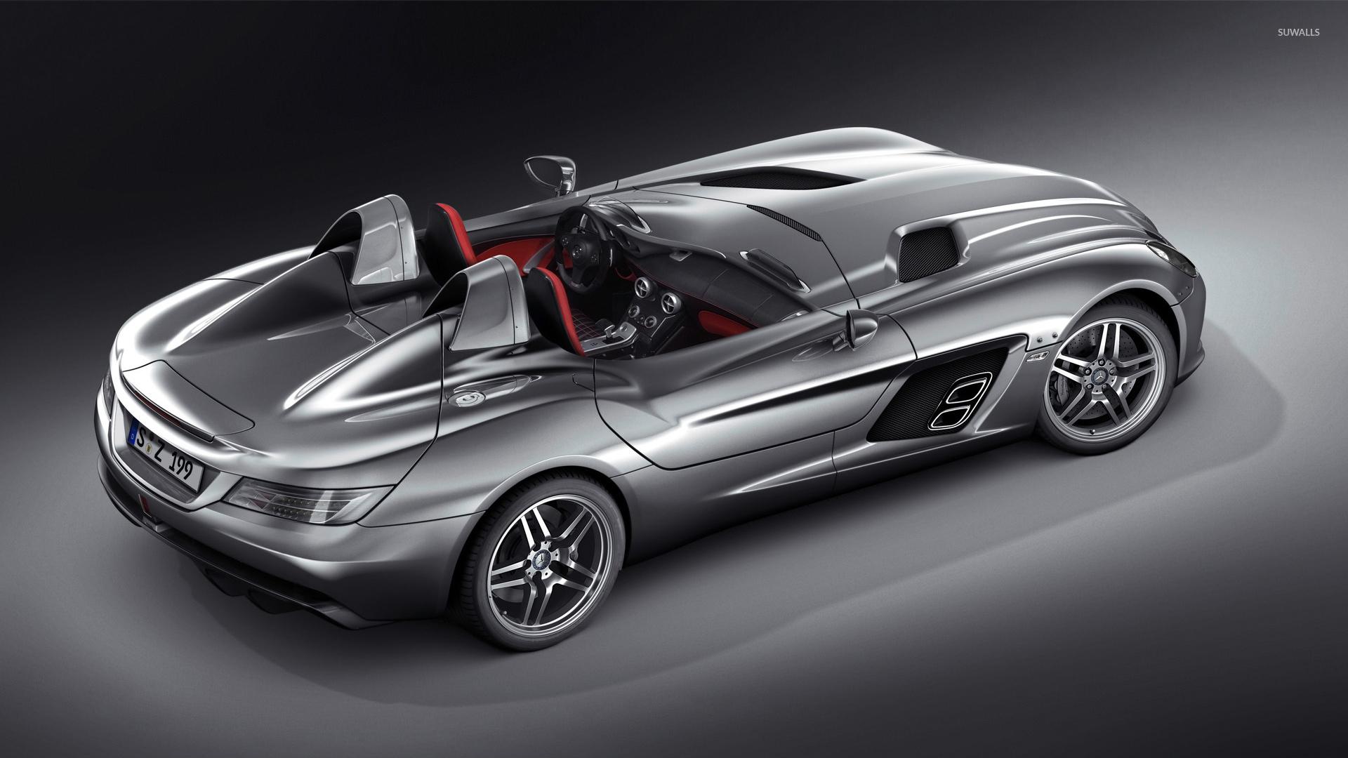 Top view of a silver Mercedes-Benz SLR McLaren wallpaper ...