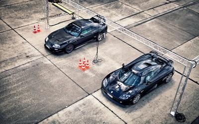Toyota Supra vs Koenigsegg CCX wallpaper