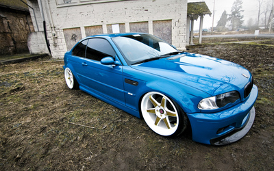 Tuned BMW 3 Series front side view wallpaper