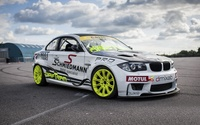 Tuned white BMW 1 Series front side view wallpaper 1920x1200 jpg