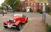 Vintage red car [2] wallpaper 2880x1800 jpg