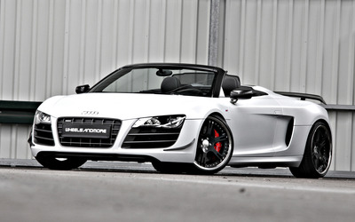 Wheelsandmore Audi R8 Spyder GT Triad Bianco wallpaper