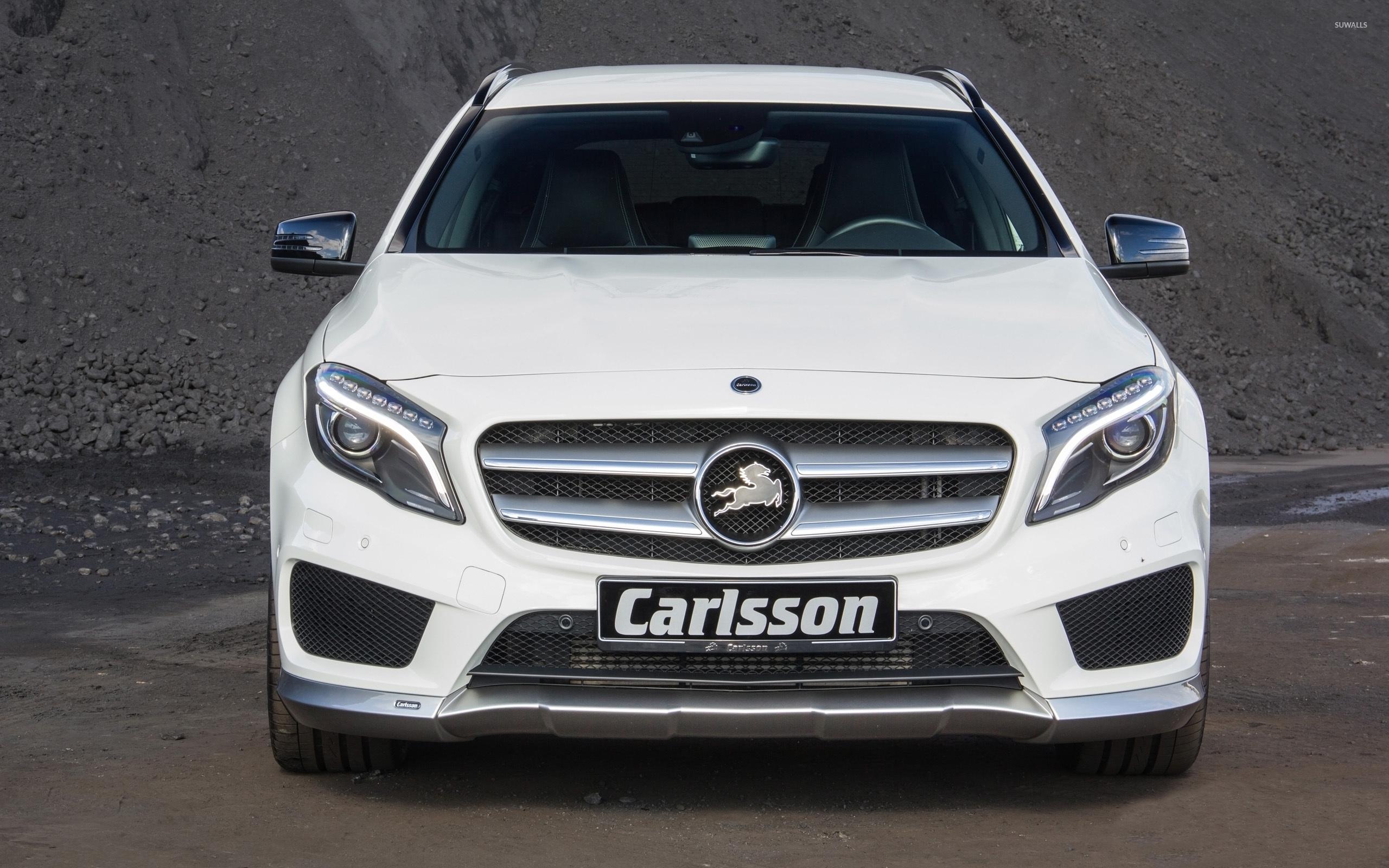 White 2014 carlsson mercedes benz gla class front view for 2014 mercedes benz gla class
