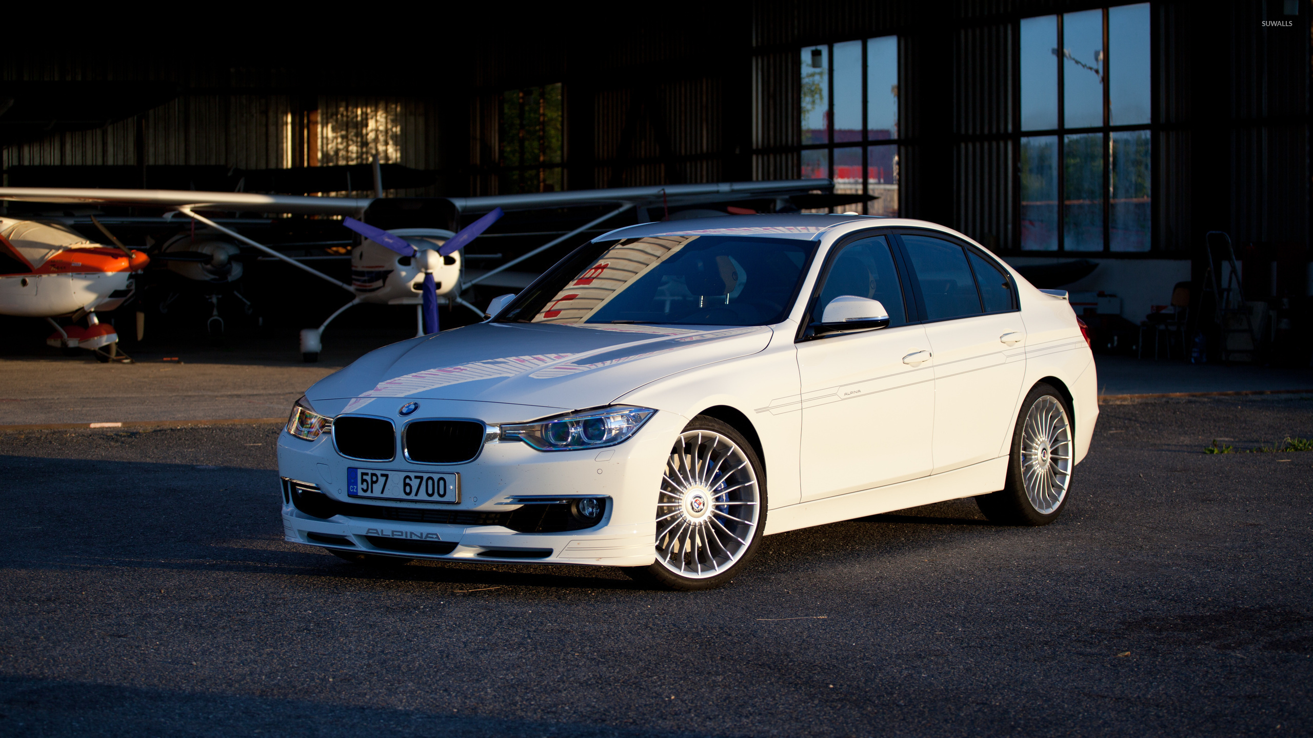 White Alpina BMW 3 Series wallpaper - Car wallpapers - #53385