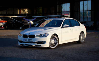 White Alpina BMW 3 Series wallpaper