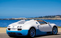 White and blue Vitesse Bugatti Veyron wallpaper 1920x1200 jpg