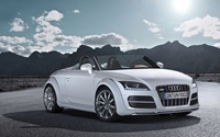 White Audi TT front view wallpaper 1920x1200 jpg