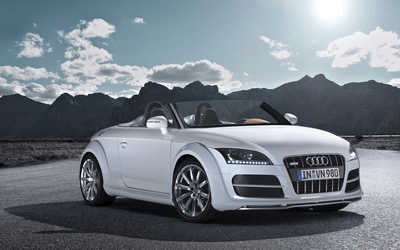White Audi TT front view wallpaper