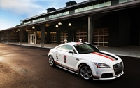 White Audi TTS quattro side view wallpaper 1920x1200 jpg