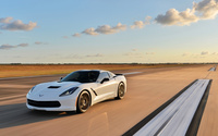 White Chevrolet Corvette C7 Stingray wallpaper 2560x1440 jpg
