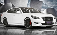 White Infiniti M30 front side view wallpaper 1920x1200 jpg