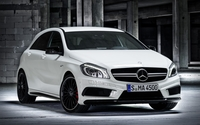 White Mercedes-Benz A45 AMG wallpaper 1920x1200 jpg