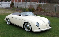 White Porsche 356 Speedster front side view wallpaper 2560x1600 jpg