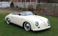 White Porsche 356 Speedster front side view wallpaper 2560x1600 jpg