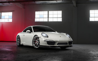 White Porsche 991 in a garage wallpaper 1920x1200 jpg