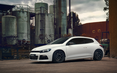 White Volkswagen Scirocco wallpaper