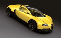 Yellow Bugatti Veyron top view wallpaper 1920x1200 jpg