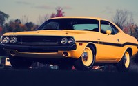 Yellow Dodge Challenger front side view wallpaper 1920x1080 jpg
