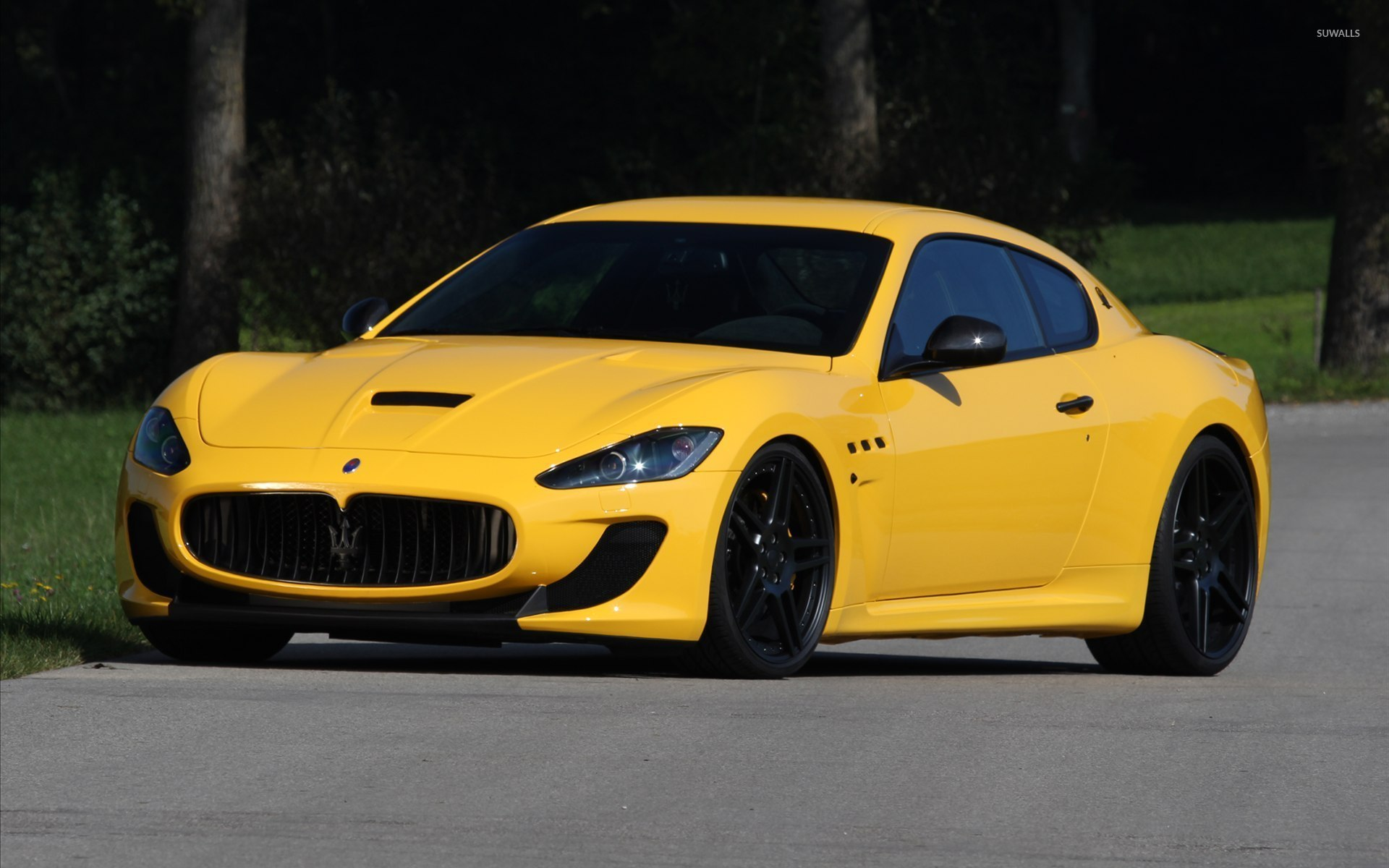 Yellow Maserati GranTurismo front side view wallpaper - Car ...