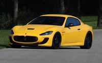 Yellow Maserati GranTurismo front side view wallpaper 1920x1200 jpg