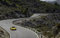 Yellow McLaren MP4-12C top view wallpaper 2560x1440 jpg