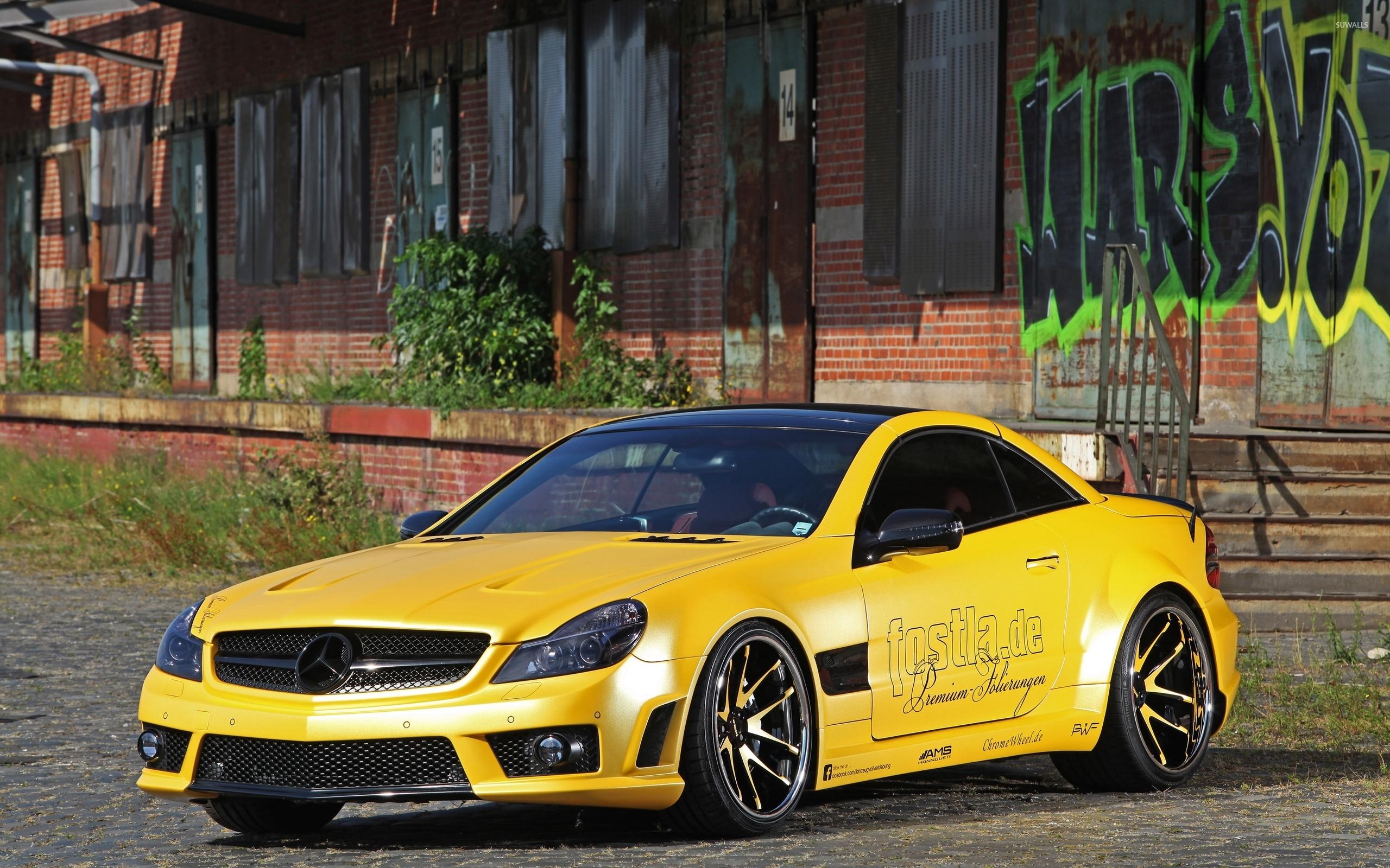 Yellow mercedes benz sl55 amg wallpaper car wallpapers for Mercedes benz sl 55 amg