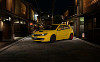 Yellow Subaru Impreza WRX STI in Chinatown wallpaper 1920x1200 jpg