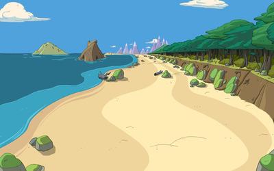 Adventure Time landscape wallpaper