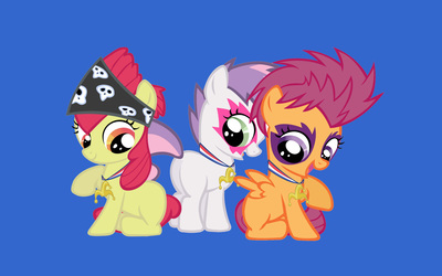 Applebloom, Sweetie Belle and Scootaloo wallpaper