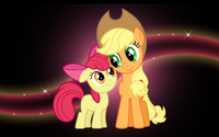 Applejack and Applebloom wallpaper 2560x1600 jpg