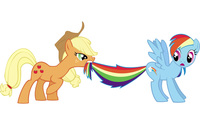 Applejack and Rainbow Dash - My Little Pony wallpaper 2560x1600 jpg