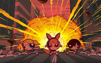 Blossom, Bubbles and Buttercup - The Powerpuff Girls wallpaper 1920x1200 jpg
