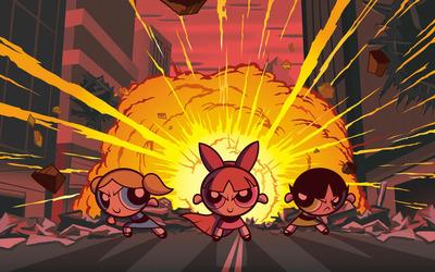Blossom, Bubbles and Buttercup - The Powerpuff Girls wallpaper