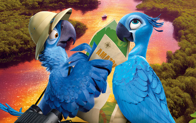 Blu and Jewel - Rio 2 wallpaper
