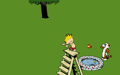 Calvin and Hobbes [8] wallpaper