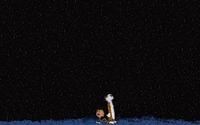 Calvin and Hobbes watching the stars wallpaper 1920x1080 jpg