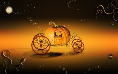 Cinerella's Pumpkin Coach wallpaper