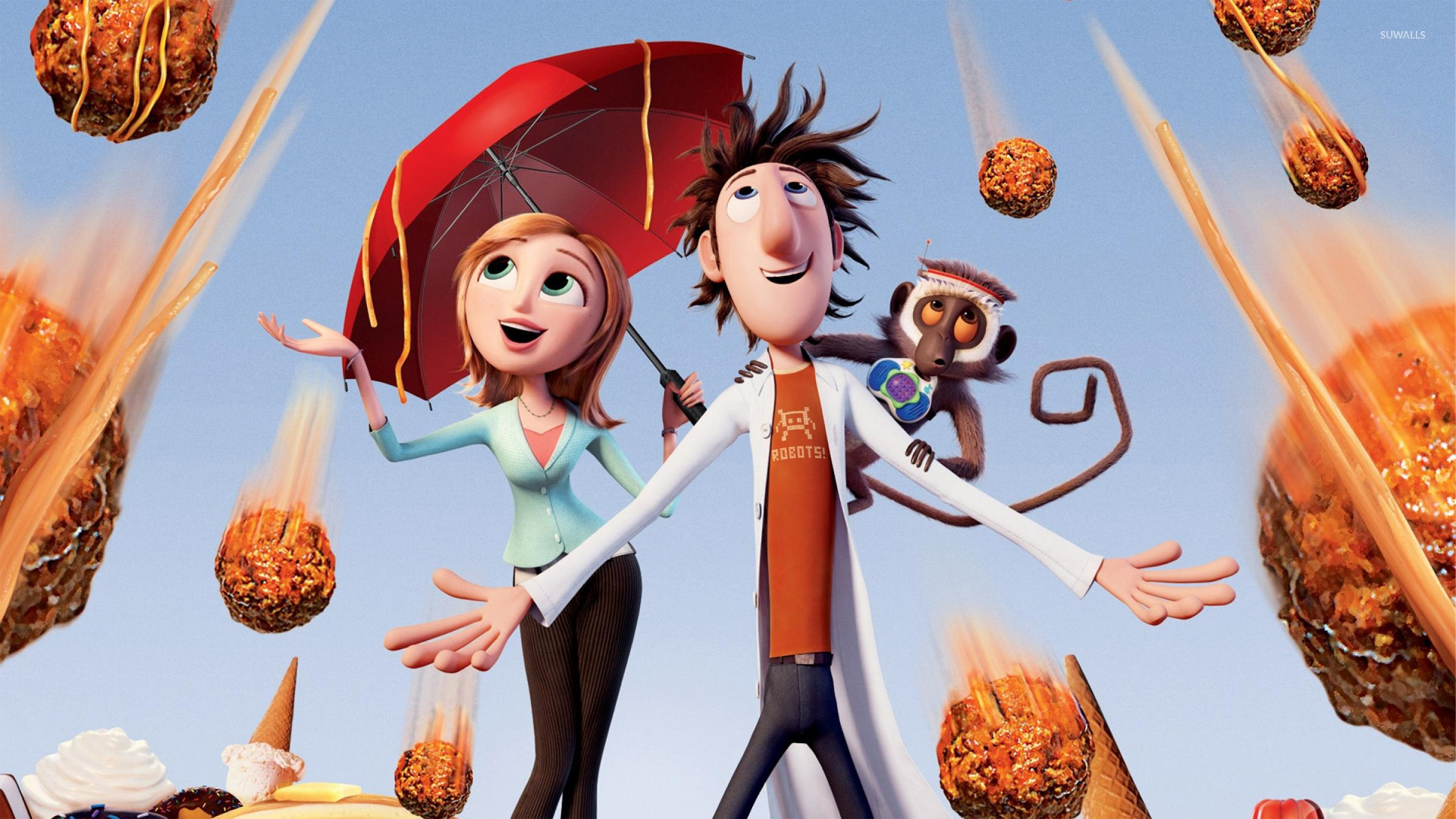 cloudy with a chance of meatballs 2 [3] wallpaper - cartoon