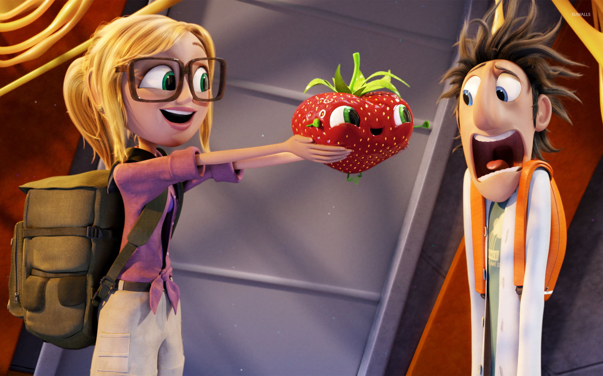 cloudy with a chance of meatballs 2 [2] wallpaper - cartoon
