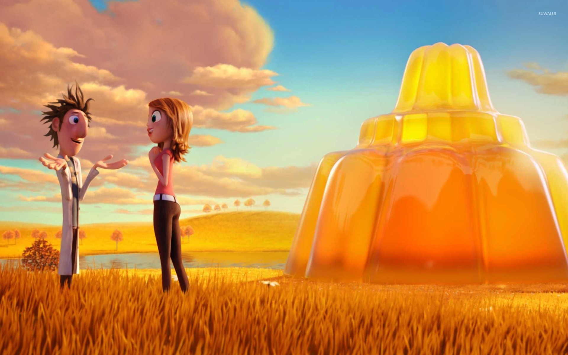 cloudy with a chance of meatballs 2 [5] wallpaper - cartoon