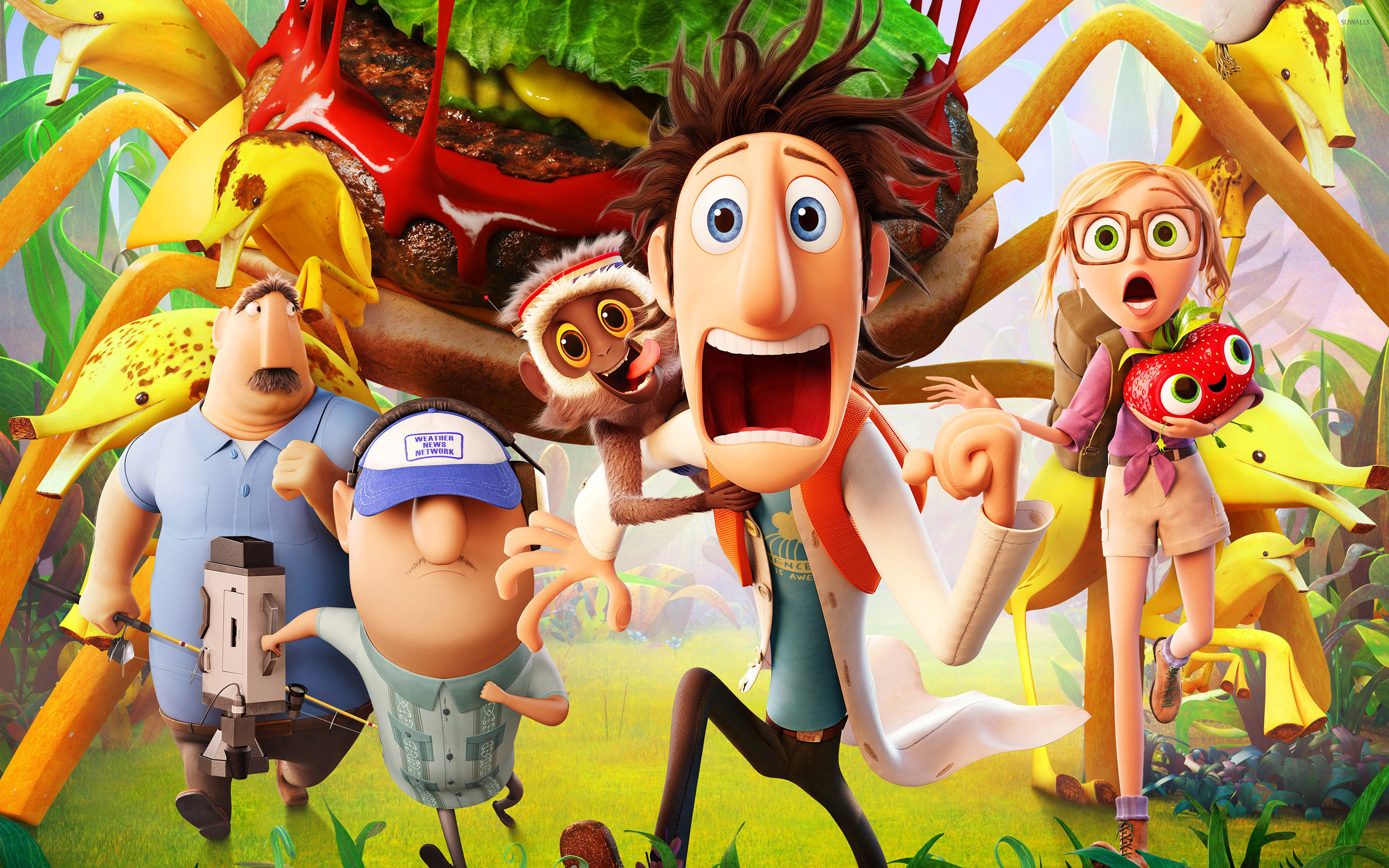 cloudy with a chance of meatballs 2 wallpaper - cartoon wallpapers