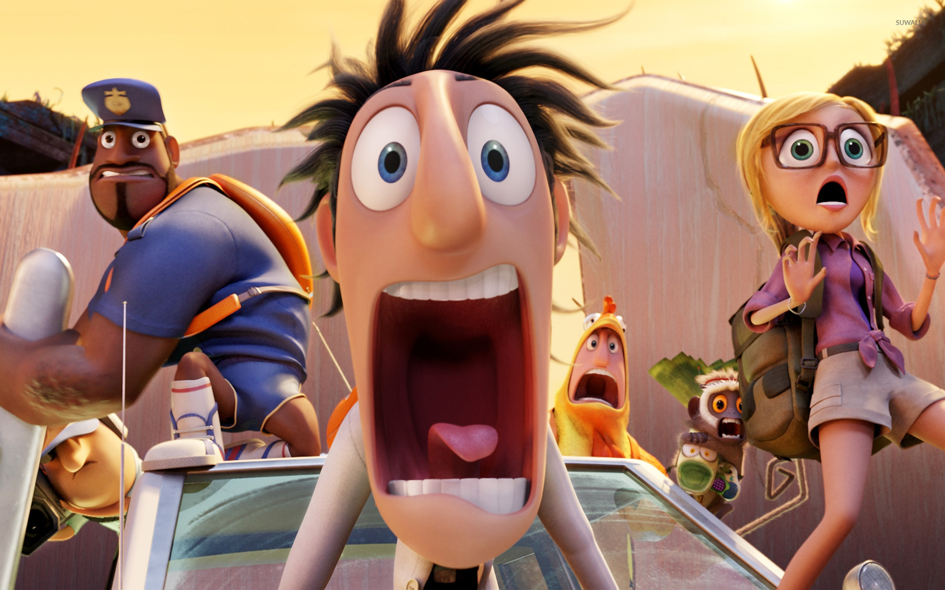 cloudy with a chance of meatballs 2 [8] wallpaper - cartoon