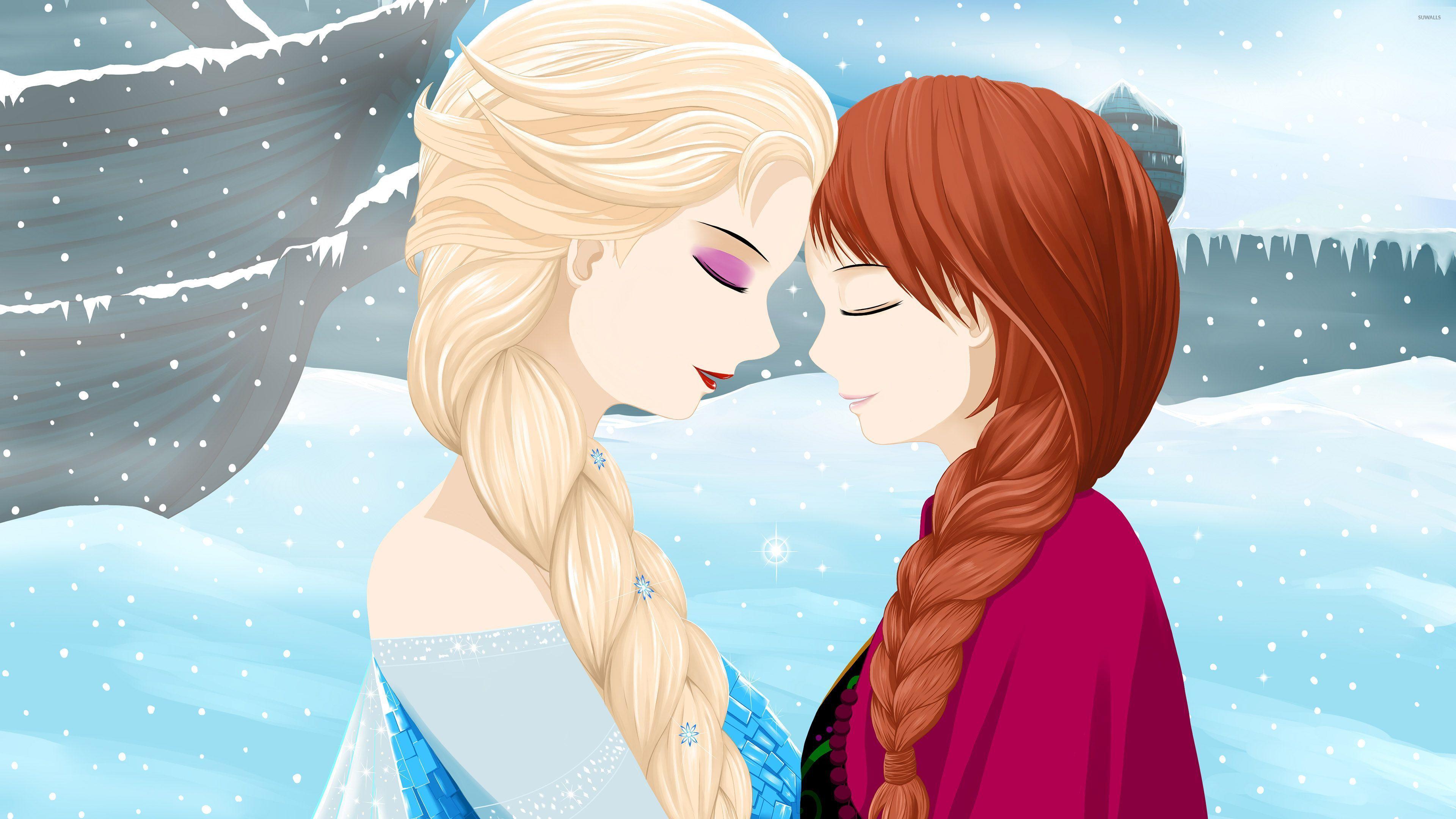 Elsa And Anna From Frozen Wallpaper Cartoon Wallpapers