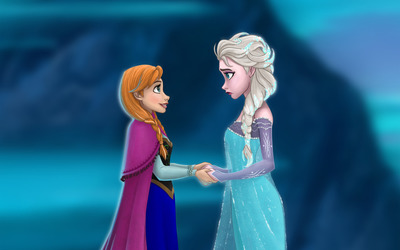 Elsa and Anna - Frozen [2] wallpaper