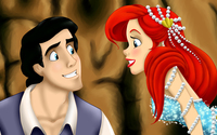 Eric and Ariel from The Little Mermaid wallpaper 2560x1440 jpg