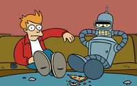 Fry and Bender - Futurama wallpaper 1920x1200 jpg