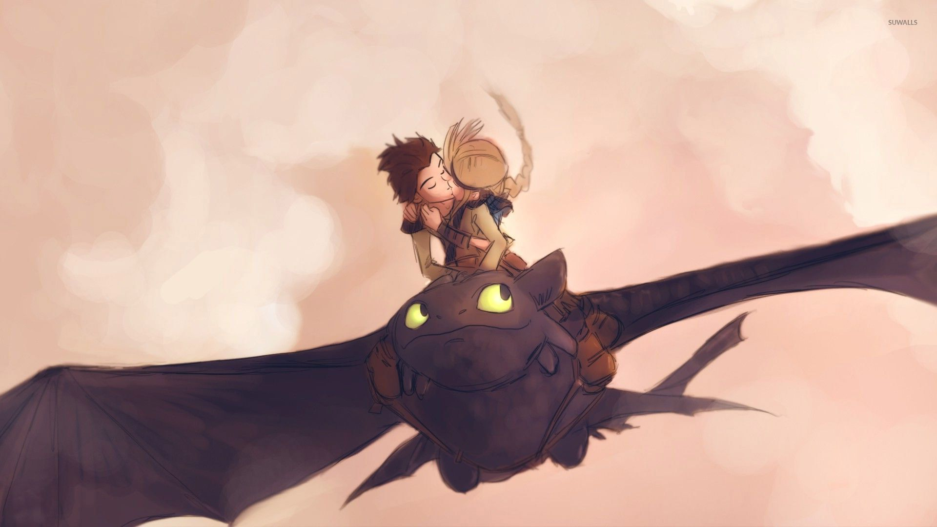 How to train your dragon kiss cartoon
