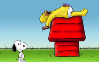 Homer - Snoopy wallpaper 1920x1080 jpg