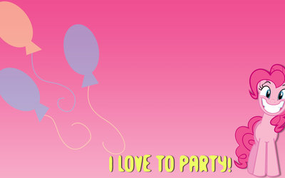 I love to party - Pinkie Pie, My Little Pony wallpaper